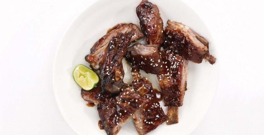 Sticky Hoisin-Sesame Lamb Ribs