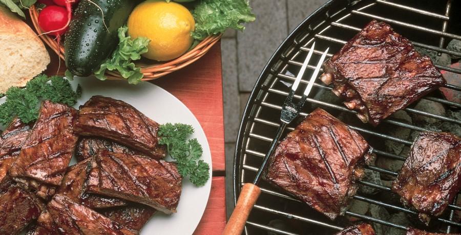 Tangy Barbecued Lamb Riblets
